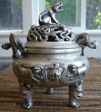 Mongolian incense burner